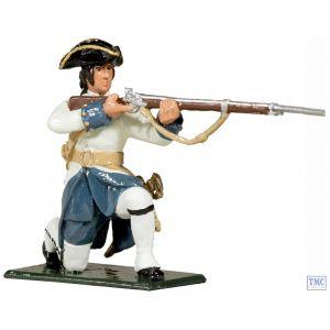 B47055 W.Britain Compagnies Franches de la Marine Kneeling Firing 1754-1760 Redcoats & Bluecoats Collection