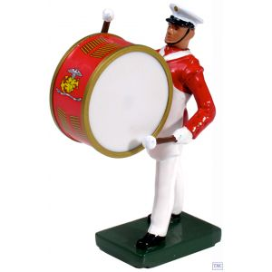 B48509 W.Britain United States Marine Corps Commandant's Own Bass Drummer Ceremonial Collection