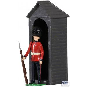 B49038 W.Britain British Scots Guardsman with Sentry Box Archive Collection