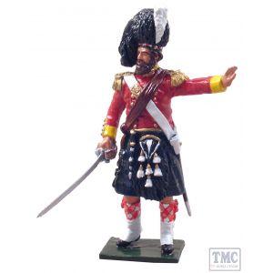 B50016C W.Britain Redcoats 93rd Highlander Officer, 1854-1856 (Gloss)