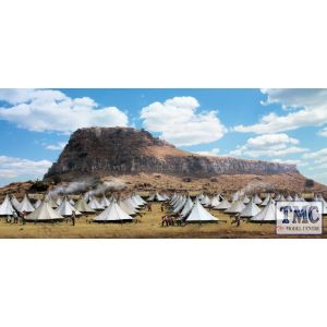 B51047 W.Britain Anglo-Zulu War Backdrop - Isandlwana, 22 January, 1879 Scenics Collection