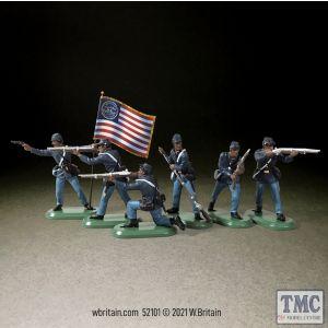 B52101 W.Britain American Civil War Union U.S.C.T. Infantry Set 1 6 Piece Gift Box