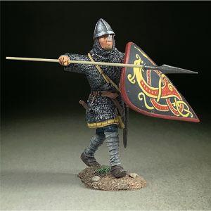 B62140 W.Britain ÒEdgardÓ Saxon Defending with Spear and Kite Shield Wrath of the Northmen 793-1066