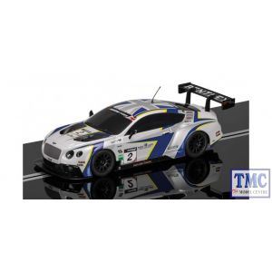 C3515 Scalextric 1:32 Scale Bentley CONTINENTAL Gt3 Generation Racing No 2 (Pre-owned)
