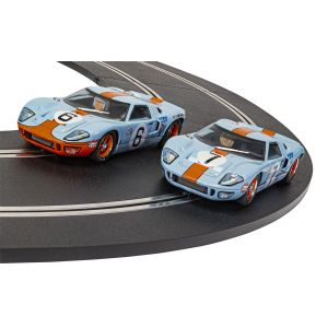 C4041A Scalextric 1969 GT40 GULF EDITION Twin Pack LIMITED EDITION