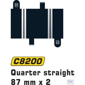C8200 Scalextric Quarter Straight 87 mm x 2