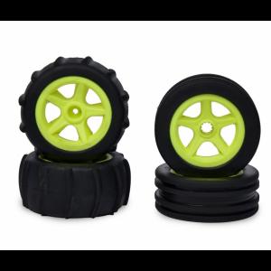 C900155 Carson RC1:10 2WD Paddle Tires 4pcs (neon yellow)