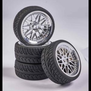 C900159 Carson RC1:10 Wheel Set Y-Design1 (4) chrome