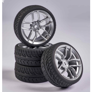 C900160 Carson RC1:10 Wheel Set 10 sp. Design (4) silver