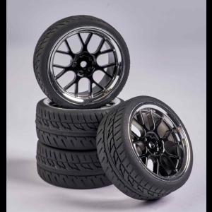 C900162 Carson RC1:10 Wheel Set Y-Design2 (4) bl./chrome