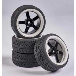 C900165 Carson RC1:10 Wheel Set 5 sp. Design (4) black/wh