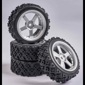 C900156 Carson RC1:10 Wheel Set Drift (4) silver/red