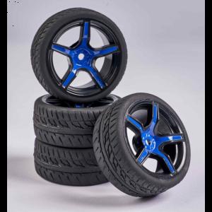 C900167 Carson RC 1:10 Wheel Set 5 sp. Design (4) blue/bl
