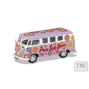 CC02730 Corgi 1:43 Scale Volkswagen Campervan - Peace Love and Music