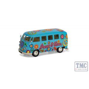 CC02738 Corgi 1:43 Scale Volkswagen Campervan - Peace Love and Freedom
