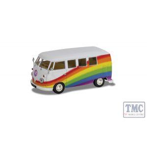 CC02739 Corgi 1:43 Scale Volkswagen Campervan - Peace Love and Rainbows