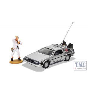 CC05503 Corgi 1:36 Scale Back to the Future DeLorean and Doc Brown Figure