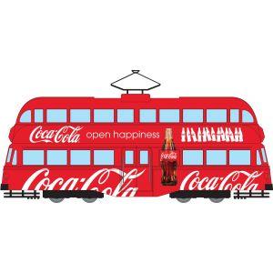 CC43515 Corgi 1:76 Scale Coca Cola Double Decker Tram - Open Happiness
