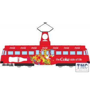 CC44013 Corgi 1:76 Scale Coca Cola Single Decker Tram- Coke Side of Life
