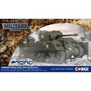CC51031 Corgi 1:50 Scale Sherman M4 A3 – US Army- Luxembourg 1944
