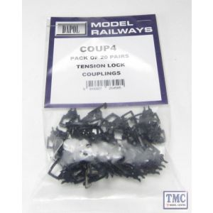 COUP4 Dapol OO Gauge Tension Lock Coupling Bulk Pack (20)