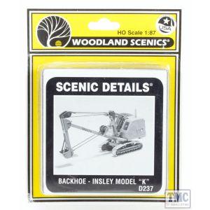 D237 Woodland Scenics OO/HO Scale Backhoe Ð Insley Model K Excavator Kit