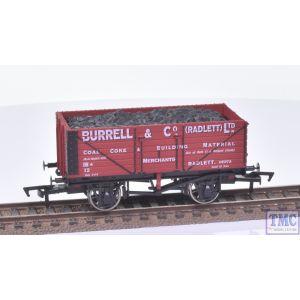 Dapol OO Gauge 7 Plank Wagon Burrell & Co Radlett Ltd no.12 (St Albans South Signal Box)(Mint Boxed)(Pre-owned)