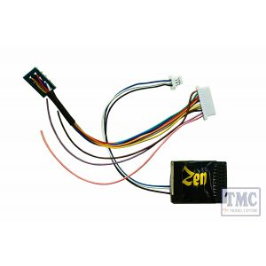 DCD-ZN218.6 DCC Concepts Zen Black Decoder: Versatile 8 and 21MTC connection ability. 6 full power functions