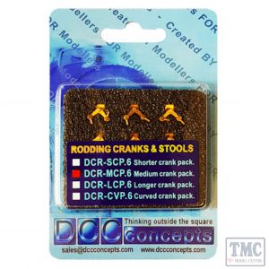 DCR-MCP.6 DCC Concepts OO/HO Scale Point Rodding Medium Cranks (6) Pins (100) and Drill