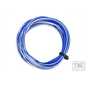 DCW-32WBT DCC Concepts TWIN Wire Decoder Stranded 6m (32g) White/Blue