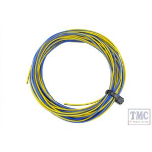 DCW-32YBT DCC Concepts TWIN Wire Decoder Stranded 6m (32g) Yellow/Blue