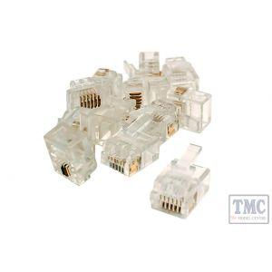 DCW-6P6C-12 DCC Concepts 6P6C Connectors (For DCC Data Bus) (12 Pack)