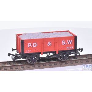 Dapol OO Gauge 5 Plank Wagon PD&SW no.41 Red (Wessex Wagons)(Mint Boxed)(Pre-owned)