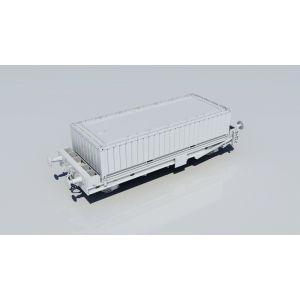 RT-PFA003-O Revolution Trains N Gauge PFA 2 axle container flat DRS LLNW Triple Pack