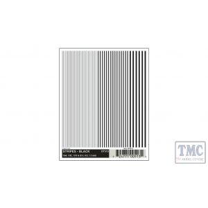 DT513 Woodland Scenics O/HO/N Scale Stripes - Black