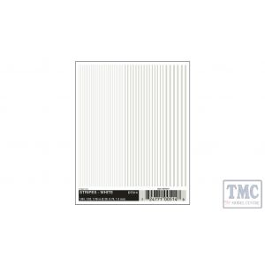 DT514 Woodland Scenics O/HO/N Scale Stripes - White