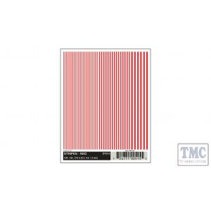 DT515 Woodland Scenics O/HO/N Scale Stripes - Red