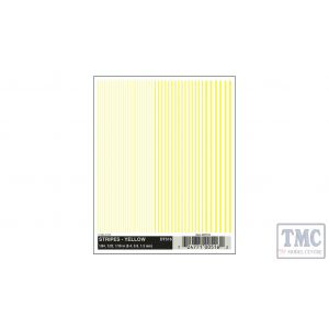 DT516 Woodland Scenics O/HO/N Scale Stripes - Yellow