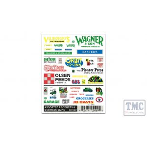 DT559 Woodland Scenics O/HO/N Scale Business Signs