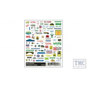 DT572 Woodland Scenics N Scale Mini-Series Business Signs