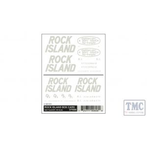 DT606 Woodland Scenics HO Scale Rock Island Box Car Soft Touch/DF
