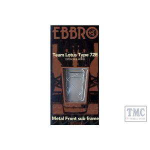 E62001 EBBRO 1/20 Scale F1 Cars METAL FRONT SUB FRAME FOR LOTUS 72E