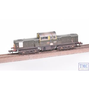 E84501 EFE Rail N Gauge Class 17 D8585 BR Green SYP Weathered by TMC
