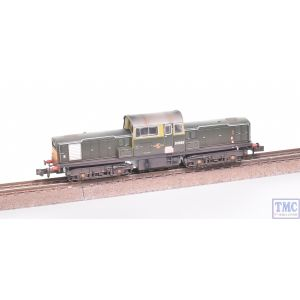 E84503 EFE Rail N Gauge Class 17 D8560 BR Green SYP Weathered by TMC