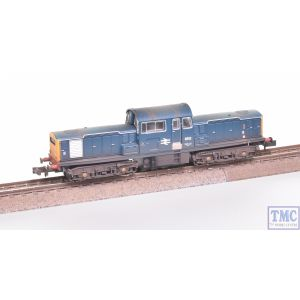 E84505 EFE Rail N Gauge Class 17 8512 BR Blue Weathered by TMC