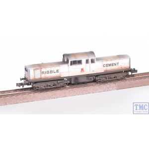 E84507 EFE Rail N Gauge Class 17 Ribble Cement White & Grey Weathered by TMC