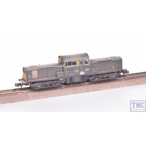 E84508 EFE Rail N Gauge Class 17 D8511 BR Green SYP Weathered by TMC