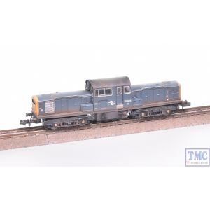 E84510 EFE Rail N Gauge Class 17 D8606 BR Blue Weathered by TMC