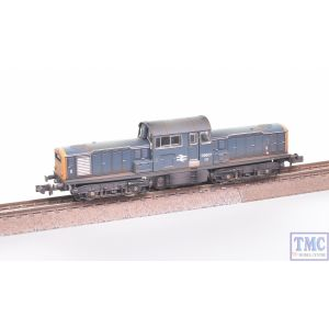 E84511 EFE Rail N Gauge Class 17 D8507 BR Blue Weathered by TMC