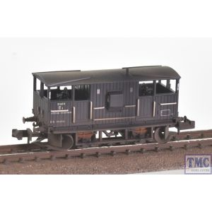 E87517 EFE Rail N Scale BR 20T 'Shark' Ballast Plough Brake Van BR Departmental Black